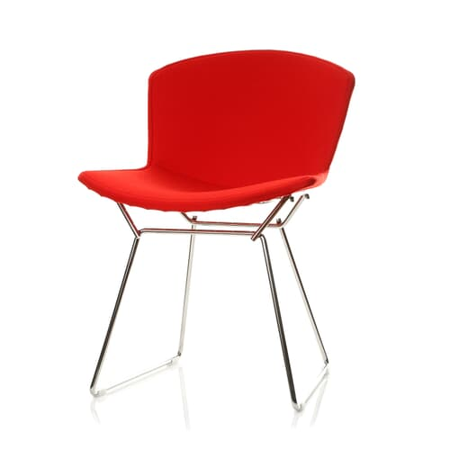 harry bertoia style wire dining side chair full cover upholstery